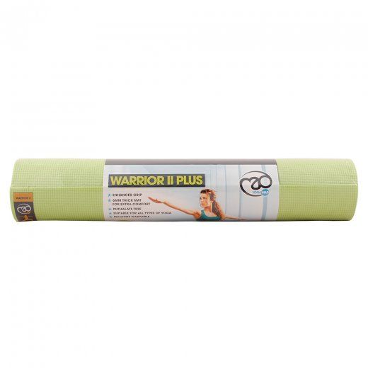 Fitness Mad Warrior 2 Yoga Mat Green (6mm thick)
