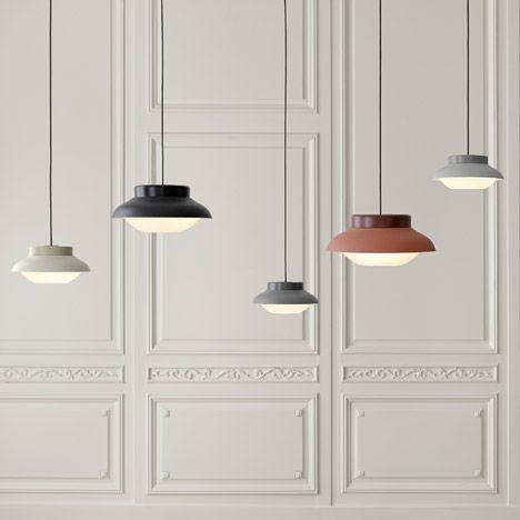 The first collaboration between German designer Sebastian Herkner and Danish furniture manufacturer Gubi has resulted in a minimal pendant lamp