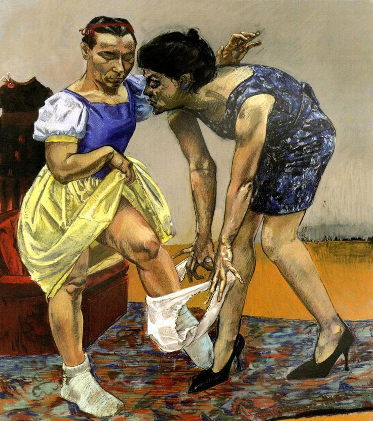 Paula Rego - Snow White and her Stepmother, 1995 (pastel on paper)