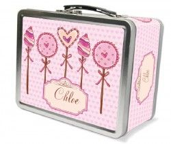 Lollipop Hearts Personalized Lunch Box