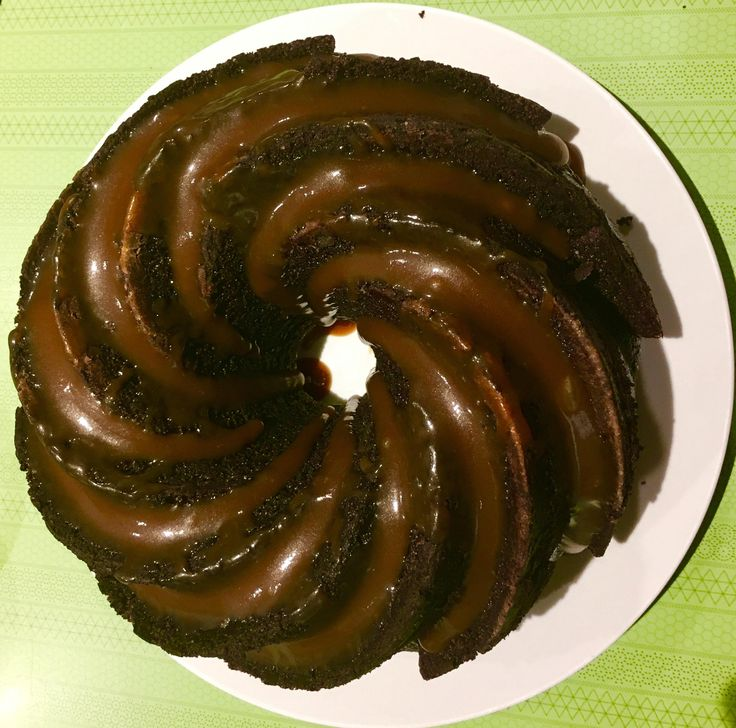 Pa's birthday request -a cake in that fancy tin you have. So chocolate whiskey bundt cake with whiskey caramel #baking #cooking #food #recipes #cake #desserts #win #cookies #recipe #cakes #cupcakes