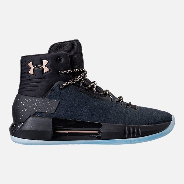 29a813526c3 Right view of Men s Under Armour Drive 4 X Basketball Shoes in  Black Metallic Gold
