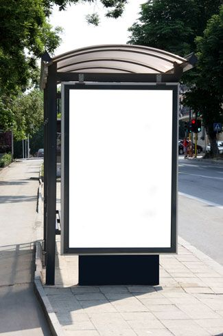 Download free bus shelter Photoshop template