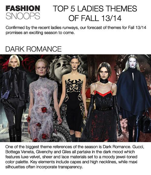 Top 5 trend themes Womens F/W 2013-14, dark romance