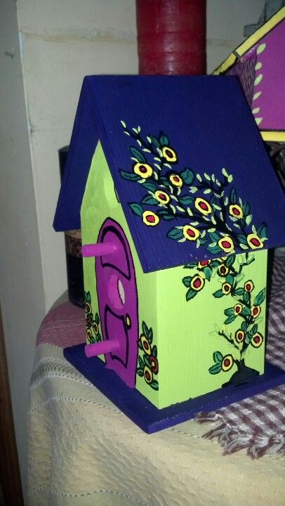 Best 25 Bird Houses Painted Ideas On Pinterest Painted