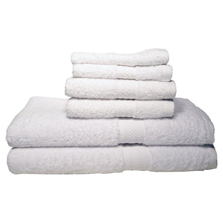 Baltic Linen Company Ultraspun Soft Absorbent 100% Cotton 6 pc. Towel Set White - 03531633700000