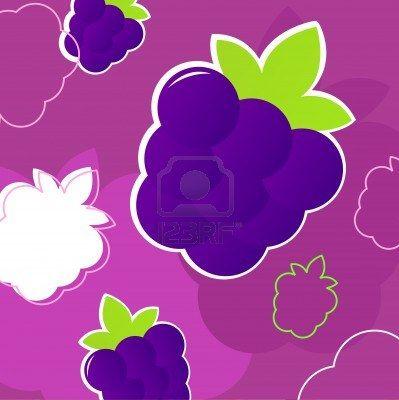 Pink blackberry background. Vector background texture