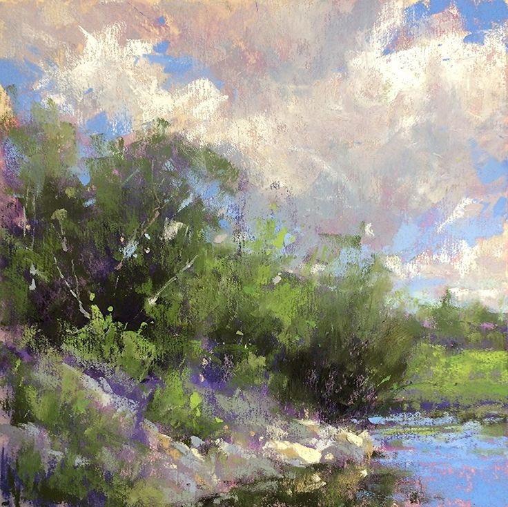 Cloudy Morning by Jacob Aguiar Pastel ~  x