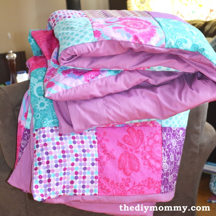 how to make a quilt out of a duvet cover