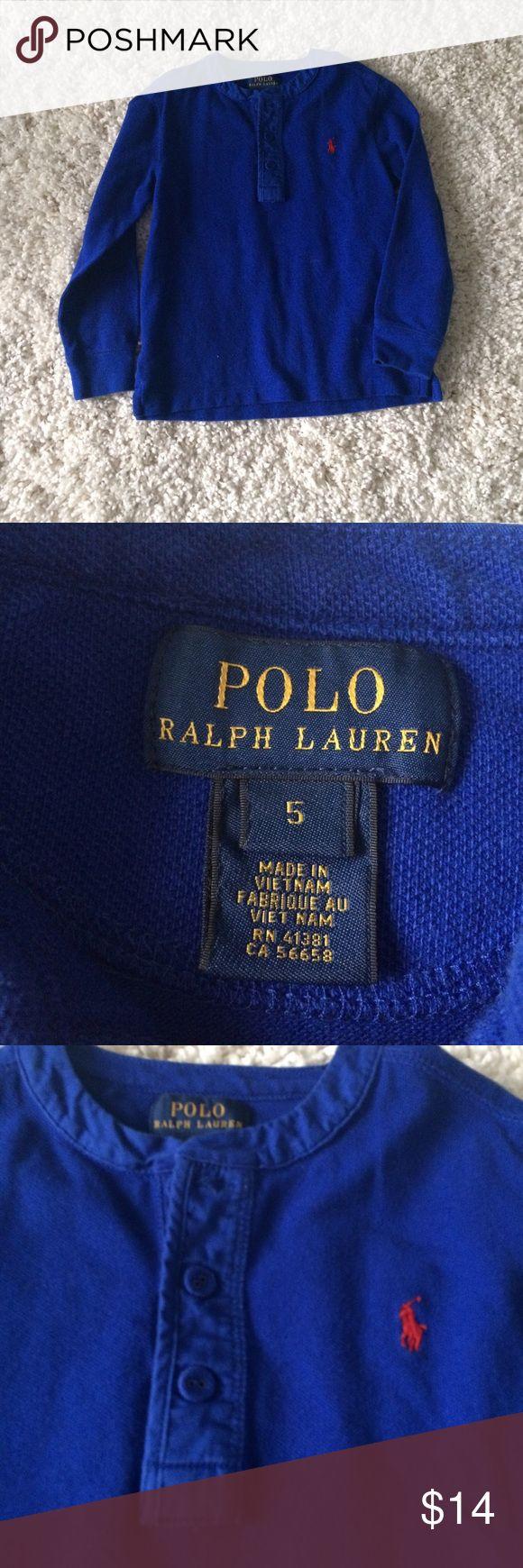 POLO Ralph Lauren [boys] blue Henley Top Worn once. Blue Henley type Top. Polo by Ralph Lauren Shirts & Tops