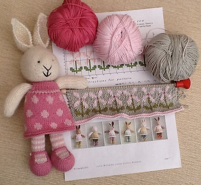 Ravelry: YarnandFloss' Tulip's new dress, 'Pretty Maids all in a Row'.