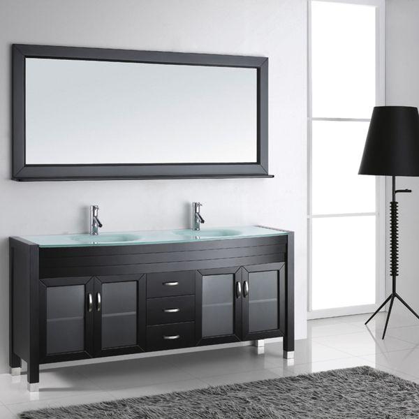 Virtu USA Ava 72-inch Double Sink Bathroom Vanity Set - Overstock Shopping - Great Deals on VIRTU Bathroom Vanities