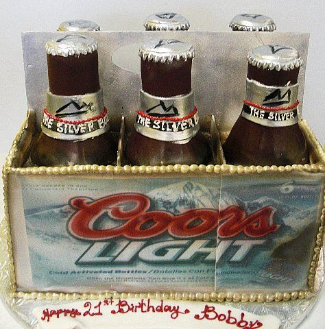 Pastry Palace Las Vegas - Coors Light Six-Pack Cake #436