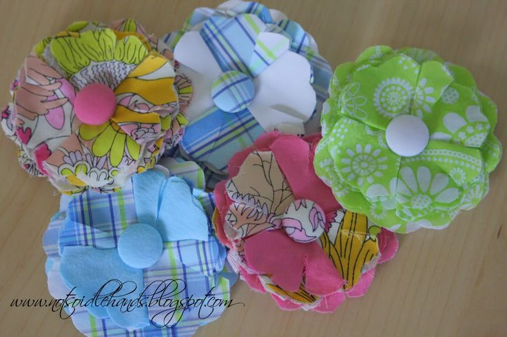 Not So Idle Hands, Crafts from the Crafty; repurpose clothes into cute hair poises