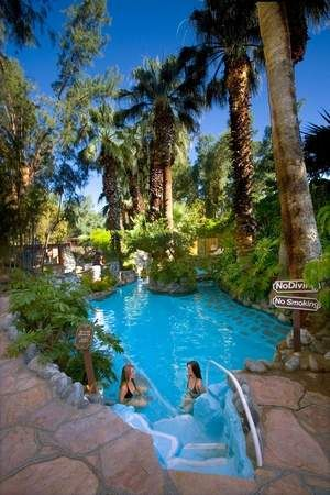 Visit the famed mineral springs grotto at Two Bunch Palms in Desert Hot Springs — just a few minutes from the action in Palm Springs proper.