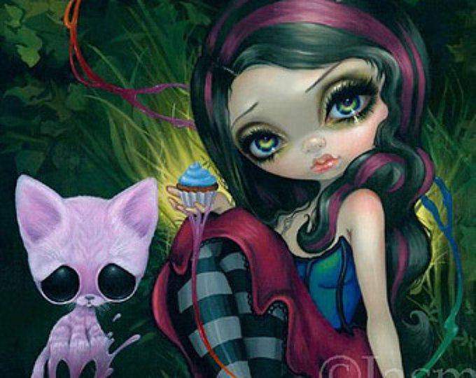 Suiker Fueled Jasmine Becket-Griffith kat Kitten Cupcake dier Lowbrow Pop surrealisme schattige grote ogen oog kunst print