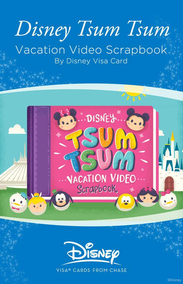 How to scrapbook disney vacation - Disney Tsum Tsum Vacation Video Scrapbook