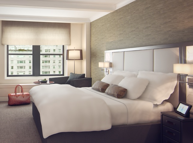 The Quin Hotel at 101 West 57th Street, New York City, features SFERRA fine linens in all guest rooms.