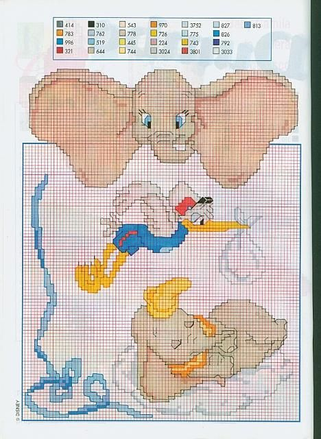 Eccezionale 34 best Disney Dumbo Cross Stitch images on Pinterest | Disney  LN66