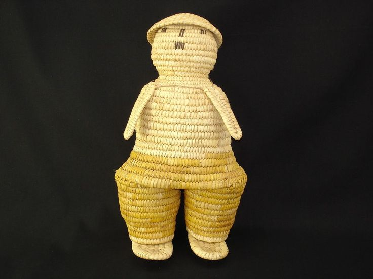 A Papago woven figure of a lady, American Indian basketry, circa 1928