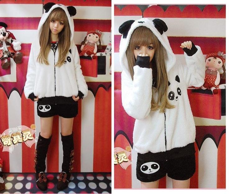 Panda Eyes Jacket Hoodie Cute | JAKET SWEATER HOODIE CUTE KOREAN ...
