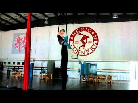 Aerial Silks Practice: Hip Key Lounge Drop - YouTube