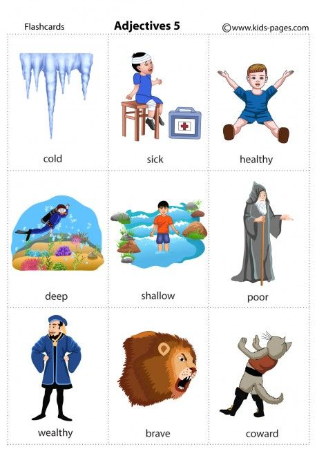 Kids Pages - Adjectives 5 - Opposites