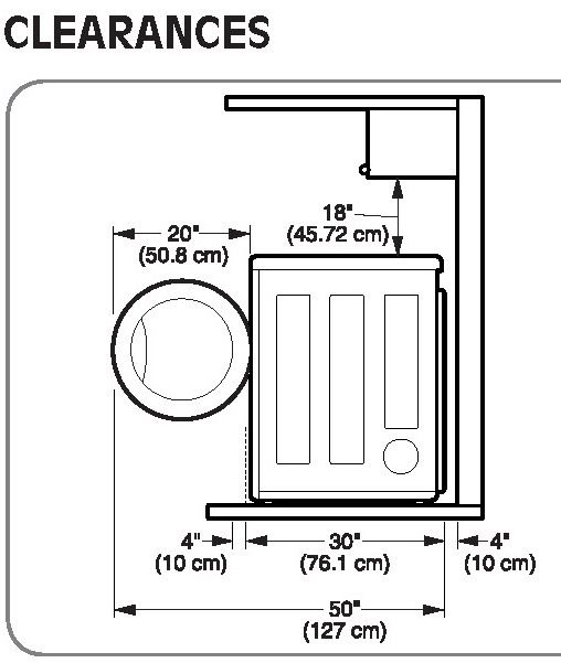 How To Install Countertop Over Washer And Dryer Dryer Clearences