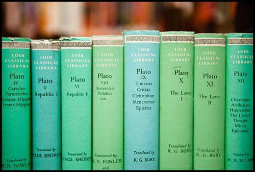 Colour-coded bookshelves