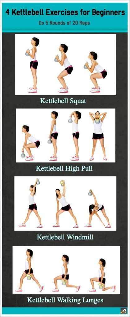 Squat, lunge, and twist your way to a stronger you. These four common kettlebell moves will help tone your legs and glutes while building core and upper-body strength. Grab a comfortable kettlebell weight and try these moves. |