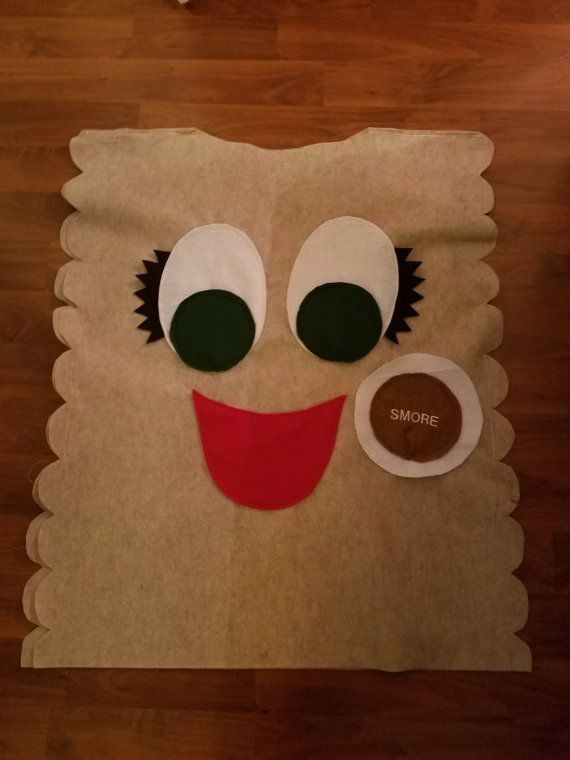 S'more Cookie Costume with embroidery detail. by GSCookieCentral
