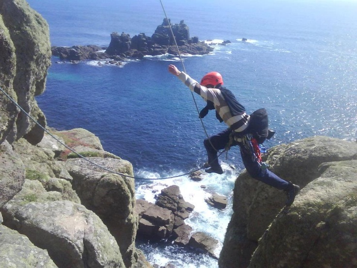 Stephen Fernley (Swansea Uni Mountaineering Club) tackles 'Lands End Long Climb' in Cornwall, UK.