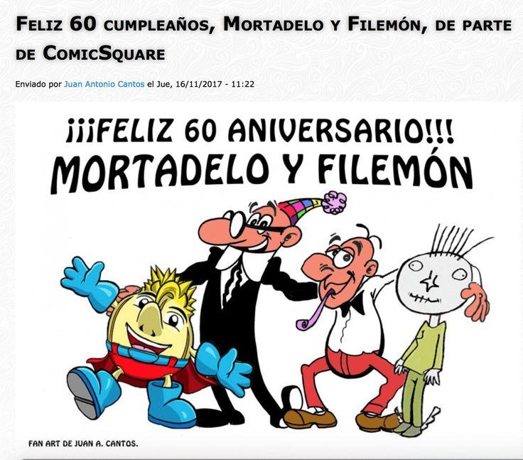 Homenaje #fanart de Juan A. Cantos, fundador, editor, Community Manager y blogger, a Mortadelo y Filemón (60 Aniversario) y a su creador, Francisco Ibáñez, en el blog de ComicSquare. #comics #Mortadelo #franciscoibanez #comicsquare #blog #homenaje
