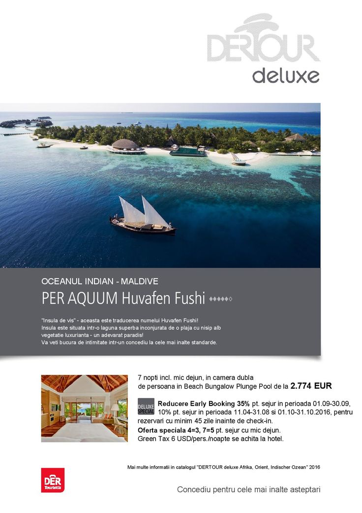 Concediu pentru cele mai inalte asteptari in Maldives, Huvafen Fushi - Rezerva acum! http://bit.ly/1U0FkWk