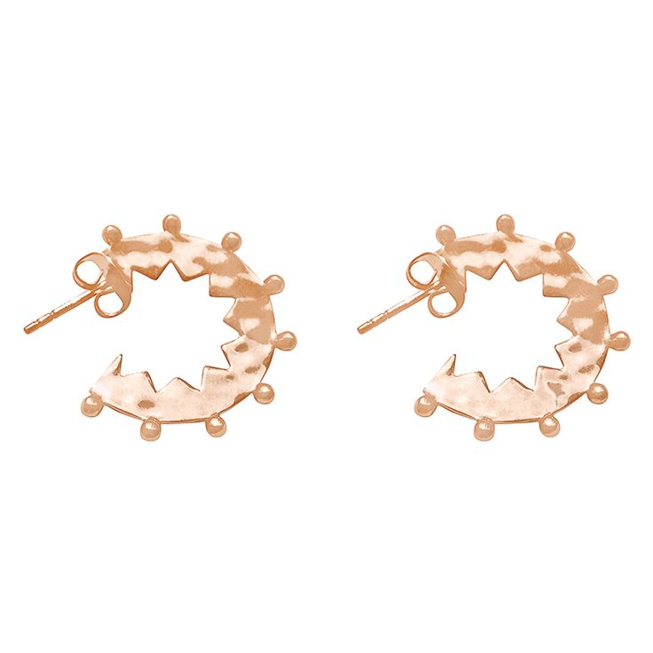 Maya Small Hoop Earrings in Rose Gold. Shop the full collection at www.murkani.com.au