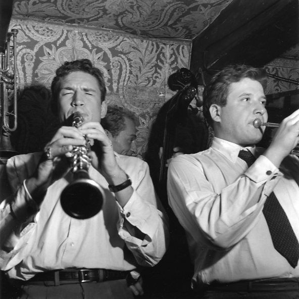 Claude Luter and Guy Lognon, 1951 by Robert Doisneau