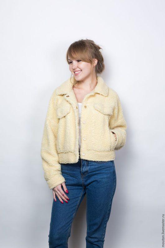 Верхняя одежда ручной работы. Ярмарка Мастеров - ручная работа. Купить Куртка-бомбер желтая. Handmade. Лимонный, куртка для девочки