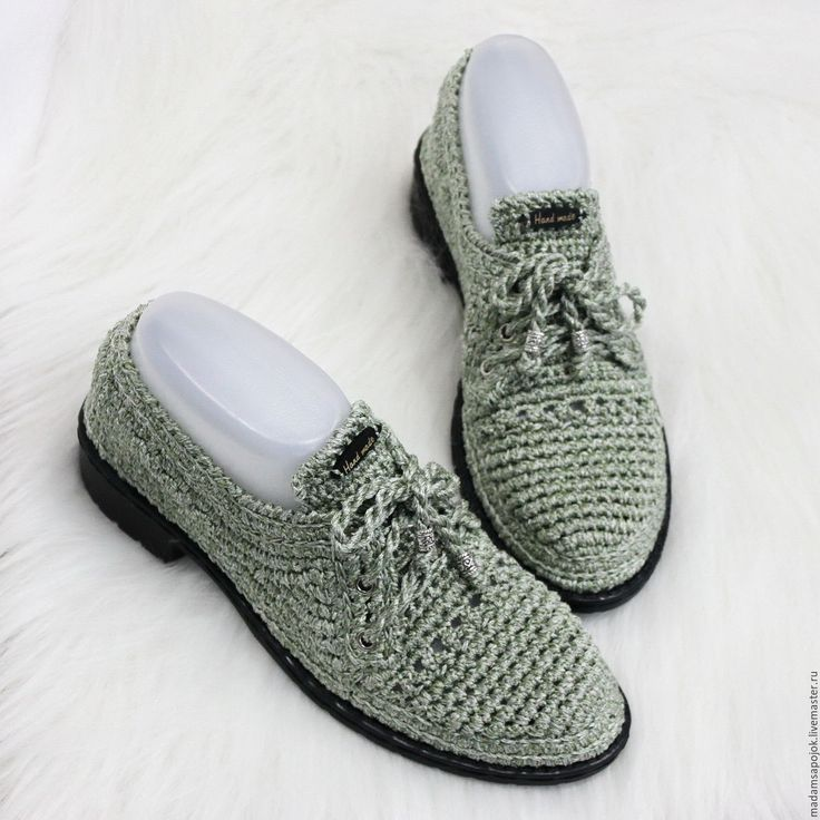 Купить Обувь вязаная Silver Olive - оливковый, хаки, мокасины, мокасины женские, мокасины вязаные