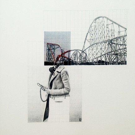 Dominique Schwarzhaupt | Colored graphite pencil and graphite on paper. 25x35cm. 2015