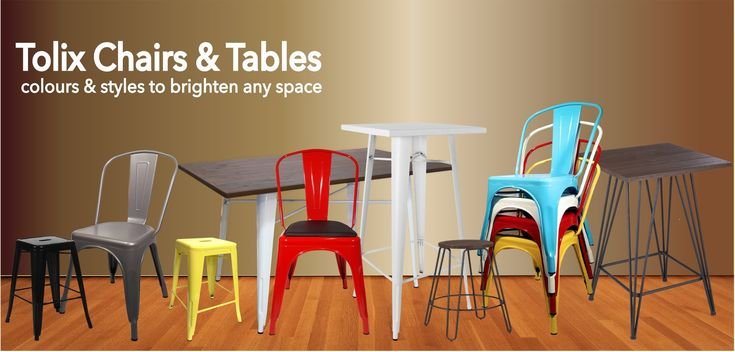 Huge Savings on Tolix chairs, Stools and Cafe Furniture.