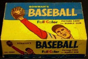 Bowman 1955 Baseball box
