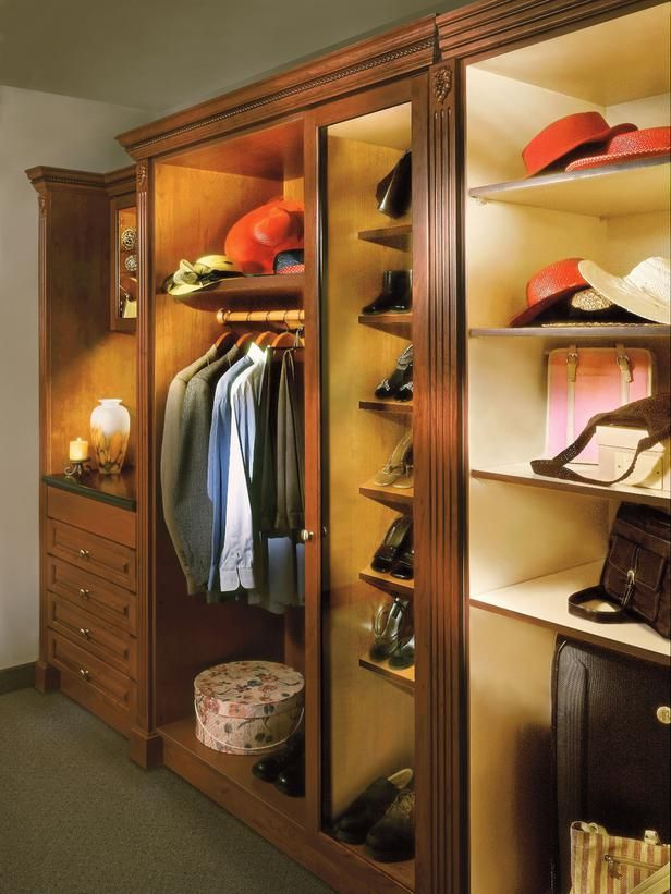 Energy-Saving LED Lighting for the Closet --> http://www.hgtv.com/specialty-rooms/lighting-ideas-for-your-closet/pictures/page-10.html?soc=pinterest