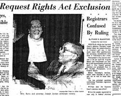 On March 24, 1966 the US Supreme Court ruled in Harper v Virginia that the poll tax was unconstitutional in state elections, reversing a 1937 decision by the court in Breedlove v Suttles. The 24th Amendment, ratified in 1964, had outlawed the poll tax in Federal elections. #TodayInBlackHistory