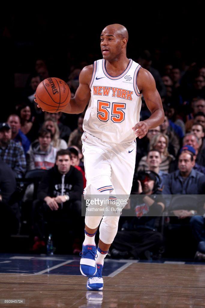 Jarrett Jack #55 of the New York Knicks handles the ball against the Oklahoma City Thunder on December 16, 2017 at Madison Square Garden in New York City, New York.