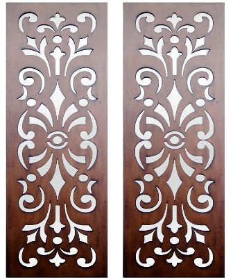 Home :: Interior Wall Art :: Timber Wall Art :: Set of 2 Kasbah Design Laser Cut Timber Art