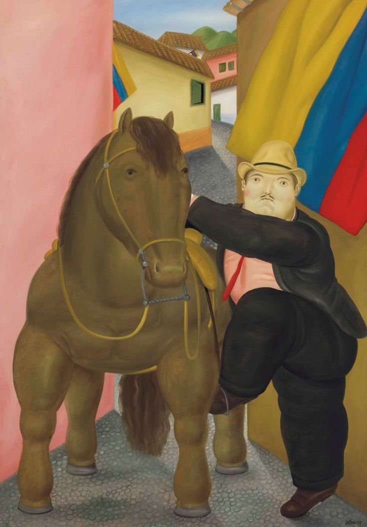 Fernando Botero: 10 things to know   Fernando Botero (b. 1932), Man and Horse, 1984. 70 ¼ x 49⅜ in (178.4 x 125.3 cm).