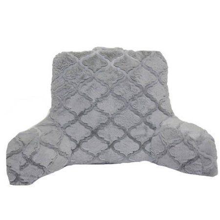 Better Homes and Gardens Trellis Fur Backrest, Gray