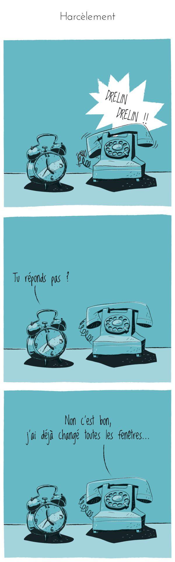 Texte : keses Dessin : zed ©compliment d'objet #complimentdobjet #reveil #telephone