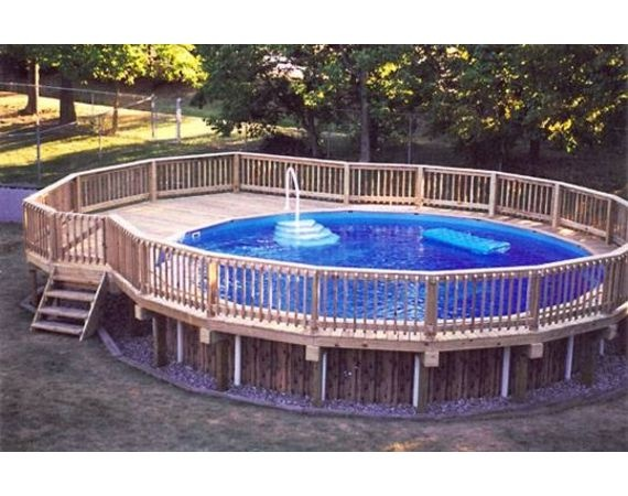10 images about above ground pool decks on pinterest - Swimming pools with decks above ground ...