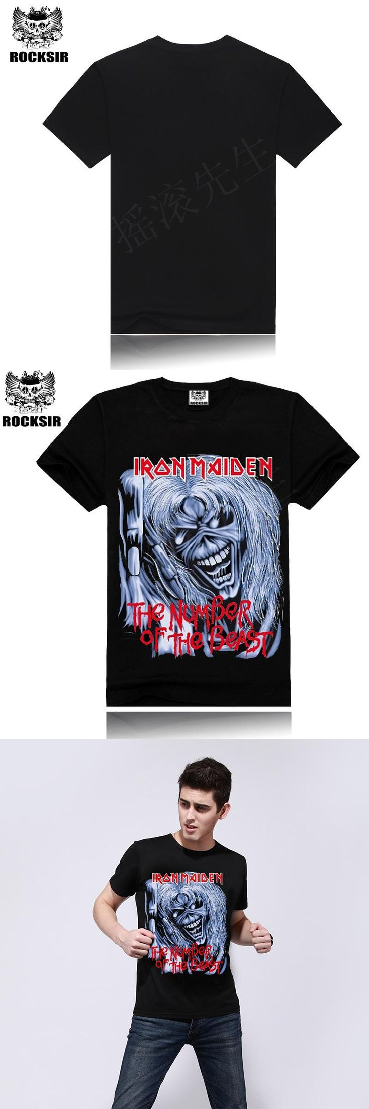 Brand Clothing Tee Men T Shirt Black T-Shirt 100% Cotton Skull Print Heavy Metal Rock Hip Hop Clothing Black Metallica Man Tops